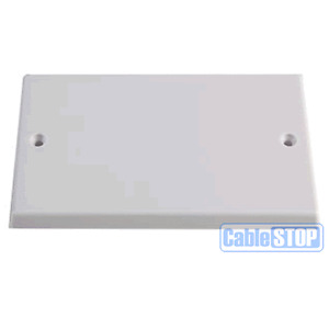 WHITE BLANK DOUBLE 2 GANG TYPE FACE WALL PLATE LIGHT PLUG SWITCH BLANKING COVER