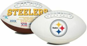 Pittsburgh Steelers Full Size Football White Panel Logo Signature Series New box