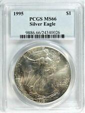 1995 ASE Silver Eagle PCGS MS 66 #GA1-26