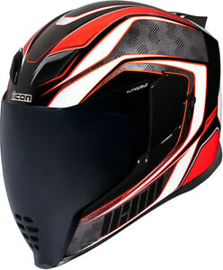 Icon Adult Airflite Raceflite Motorcycle Helmet Red All Sizes