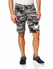 Men's Nike Club French Terry Gray Camo Shorts - Medium, Large