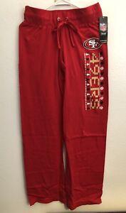 NFL San Francisco 49ers Ugly Christmas PJ Pants ~ Womens Small ~ NEW!