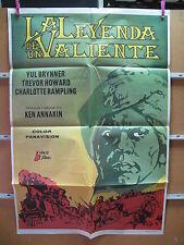 A1254 LA LEYENDA DE UN VALIENTE YUL BRYNNER TREVOR HOWARD