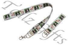 More details for brittany spaniel breed of dog matching lanyard | keyring key ring | bookmark