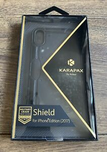 IPhone XS phone case black Karapax Shield by Anker New (sealed)