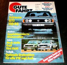 Gute Fahrt 11/76 Test VW Scirocco GTI, Max-Moritz-Golf, Abt-Golf, VW-Junior Cup