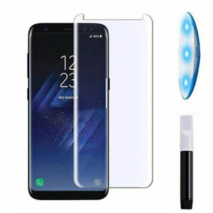 Pellicola schermo vetro FULL GLUE colla luce UV per Samsung Galaxy S8 SM-G950F