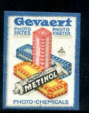 Denmark Photography Poster Stamp Gevaert photo Chemicals