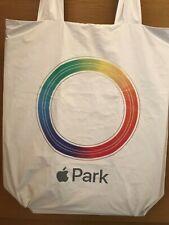 Apple Park Tote Bag White Rainbow Logo Apple Rare iPhone Macintosh iMac iPad NEW