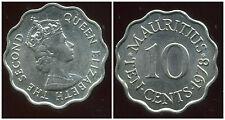 ILE MAURICE   10  cents 1978  ( SUP )