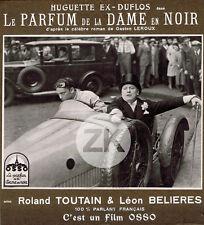 LE PARFUM DE LA DAME EN NOIR Voiture BUGATTI Gaston Leroux L'HERBIER Photo 1932