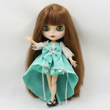Neo Blythe Factory Nude Doll Brown Straight Hair With Bang Azone Special Body