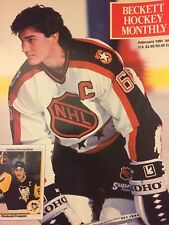 February 1991 Beckett Hockey Magazine, issue #4, Mario Lemieux - Penguins