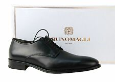 BRUNO MAGLI WERTER HANDMADE CLASSIC LACE SHOES LEATHER BLACK ITALY NEW SIZE 7