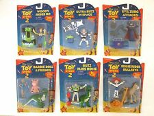 RARE DISNEY'S PIXAR TOY STORY 2 COMPLETE SET OF 6 ACTION MATTEL BARBIE BUZZ MIC!