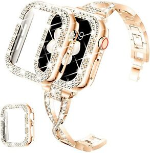 Jewelry Bangle Bracelet Bling Band Strap For Apple Watch Series 6 5 4 3 2 1 SE