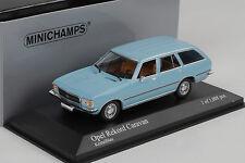 1975 Opel Rekord D Caravan Azul Kristalblau Minichamps 1:43