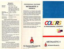 Sherwin Williams Professional Coatings Metalistic II 1970 Brochure & Colors
