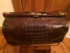 Alligator Doctors Bag Belgium Antique