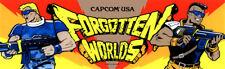 """Forgotten Worlds Arcade Marquee 26"""" x 8"""""""