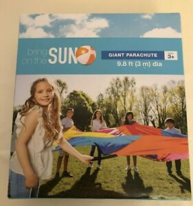 Eight Panel Handled Giant Parachute   Indoor Outdoor Play   9.8 ft dia   Ages 3+