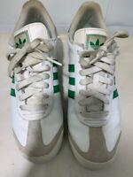 Adidas Men's Samba Soccer Shoes White Green G22597 2011 Low Top Lightweight 12 M