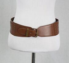 Alaia Paris Brown Leather Belt Size 80