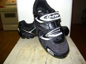 Northwave Recreational shoes, Black/White Shimano clips Sz 9.5  42
