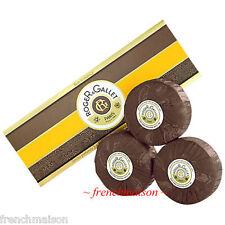 ROGER & GALLET BOIS D'ORANGE Citrus Woody French 3-Soap Box Set + Gift Ribbon