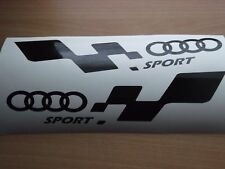 QUATTRO AUDI sport  LARGE  decal..on 12 year vinyl.. x2
