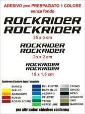 KIT Adesivi Rockrider Bici Alta qualità sticker decals Bike logo mountainbike