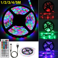 1-5M 3528 SMD RGB USB 300 LED Strip light string tape + 44 Key IR Remote  T