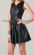 Spring Designer Lamb New Leather Women Dress Cocktail Stylish Party Wear  D-135