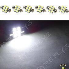 6 White 31mm 6SMD festoon dome map interior LED light lamp DE3175 3022 3021 6xC1