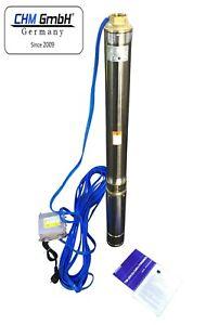 CHM GmbH® Tiefbrunnenpumpe 3 Zoll 750W 3780 l/h 8,4 Bar mit Schutzschalter