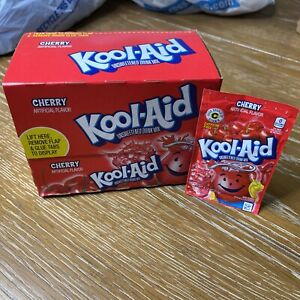 48 Packs of Kool Aid CHERRY Flavor Drink Mix Packets Brand New Sealed Exp Nov 23
