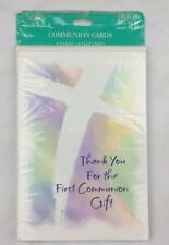Hallmark Purple Green Yellow And Blue First Communion Thank You Cards