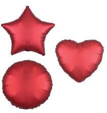 RED HEART STAR CIRCLE FOIL SATIN LUXE BALLOON DECORATOR BIRTHDAY BALLOONS