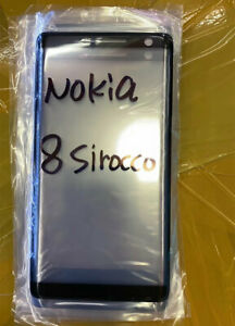 Black Front Outer Screen Glass Lens Replacement For Nokia 8 Sirocco (TA-1005)