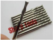 10pcs 3.175x8mm left hand Down Cut double flute cnc router bits Acrylic MFD