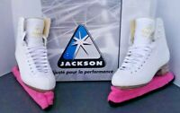 Jackson Ultima Girls' Mystique Figure Skates -JS1491- Sz 2.5 Beautiful Condition