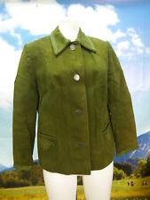 Fritz Hackenschuh grünes Leder mit Münzknöpfe fesche Trachtenjacke Jacke Gr.40
