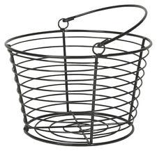Danica Black Wire Egg Basket New Primitive Rustic