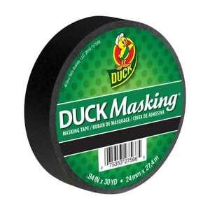 Duck Brand Color Masking Tape: 1 in. x 30 yds. (Black)