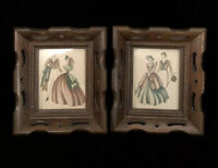 Pair of Vintage Victorian Framed Prints