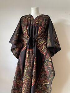 Vintage Retro 1970s 1980s Schalkie Exotic Fashions Kaftan Dress