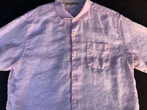 Tommy Bahama Mens Button Front Short Sleeve Linen Shirt X Large XL
