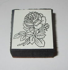 "Rose Rubber Stamp Foam Mounted Blooming Flowers NOS 1"" Wide New"