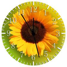 Sun Flower Frameless Borderless Wall Clock Nice For Gifts or Decor W145