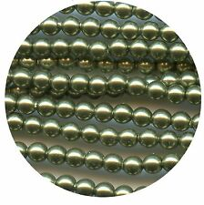 5810/8/LGR ***15 perles 8 mm cristal nacré Swarovski LIGHT GREEN*** x15